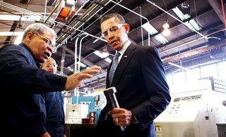 President obama factory visit