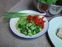 Veggies for salad